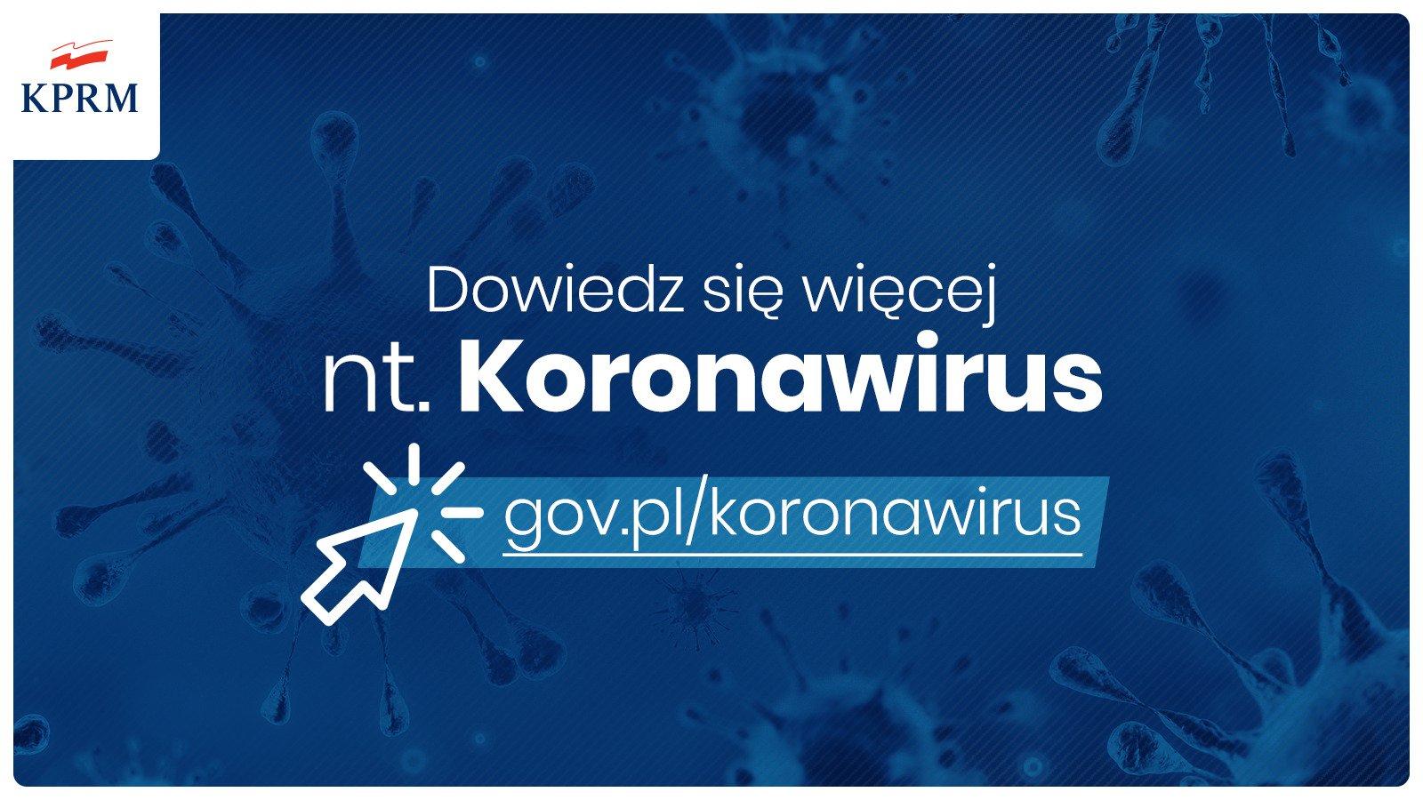 Ważna informacja – dot. Koronawirus  COVID -19