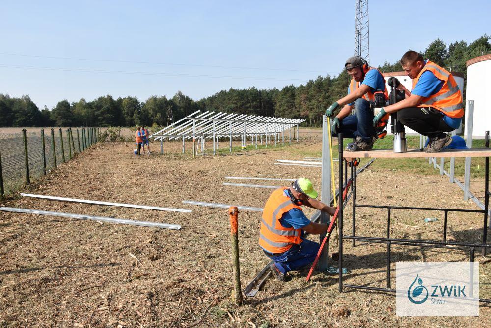 Fotowoltaika na Stacji Uzdatniania Wody w Lubogoszczy.